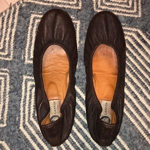 Leather lanvin ballet flats